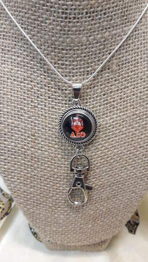 Delta Sigma Theta Sorority Necklace with Badge Holder ( SHIPPING ONLY) for Sale in Jacksonville, FL