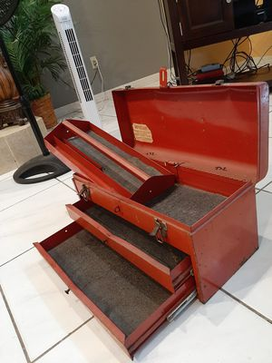 Complete Red Metal Tool Box for Sale in Orlando, FL