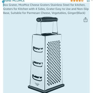 Box Grater, McoMce Cheese Graters Stainless Steel for kitchen, Graters for Kitchen with 4 Sides, Grater Easy to Use and Non-Slip Base, Suitable for P for Sale in Knightdale, NC