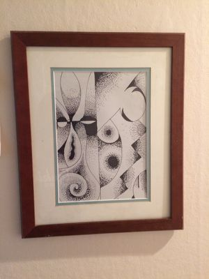 "Abstract art framed 13""x16"" ink on paper. for Sale in Portland, OR"