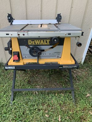 DeWalt Table Saw and Stand for Sale in Spartanburg, SC