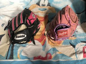 Kids softball gloves for Sale in El Cajon, CA