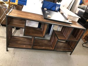 Wooden & Gun Metal console table for Sale in Saugus, MA
