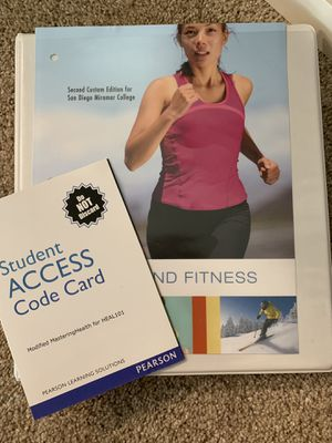 Health and fitness leaflet and student access card for Health 101 for Sale in San Diego, CA