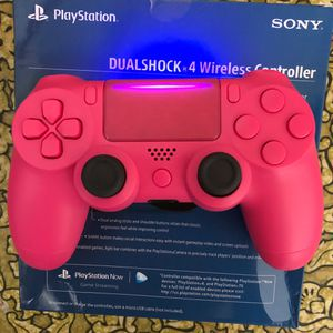 Brand New Custom Pink Ps4 Controller W/ Case for Sale in Quincy, IL