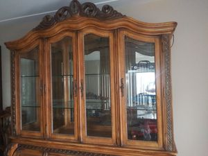 Antique china cabinet and table for Sale in Pearl Beach, MI