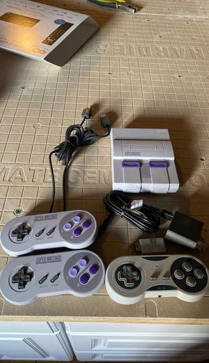 Super Nintendo Classic SNES. Opened never used. for Sale in Tacoma, WA