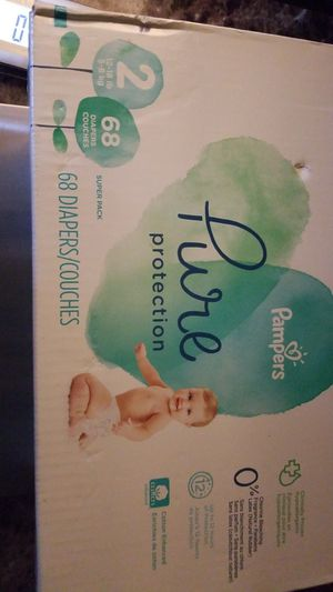 Pure Pampers size 2 case of 68 for Sale in College Park, GA