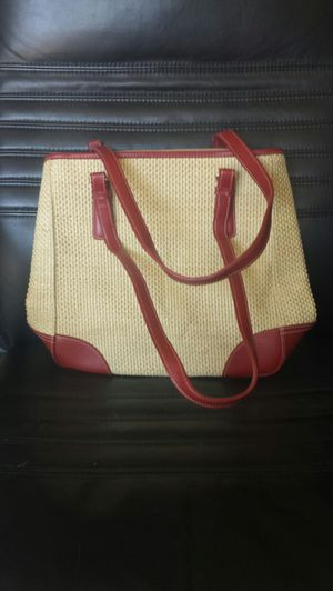 Leather Burgandy Trimmed Purse for Sale in Fairfax, VA