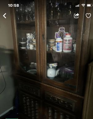 China Cabinet Furniture Antique wood for Sale in Anaheim, CA