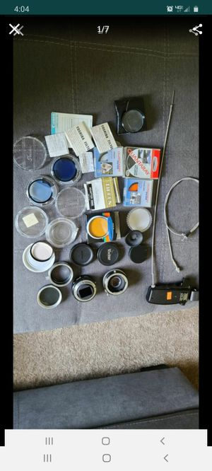 Vintage photography lot lenses filters adapters for Sale in Queen Creek, AZ
