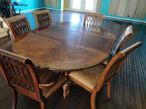 6 Seater Dinning Table - Solid and Elegant for Sale in Ashburn, VA