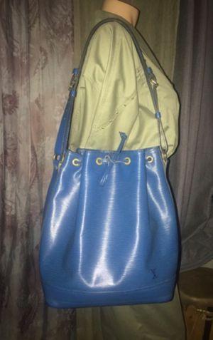 Authenticity Louis Vuitton Bucket Noe Epi Blue Leather Shoulder Bag for Sale in La Quinta, CA