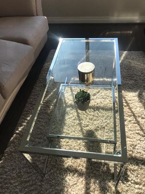 Glass top coffee table for Sale in Reston, VA