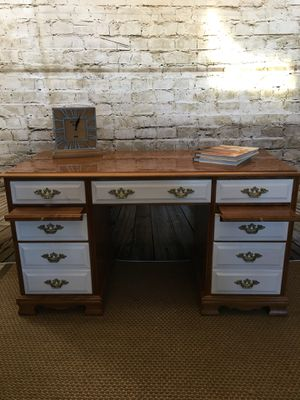Solid wood desk for Sale in Germantown, MD