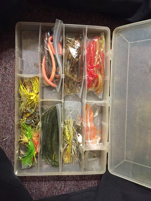 Full box of warms and spin lures for Sale in Powder Springs, GA