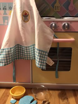 Kids Play set: Apron, Oven Mitt, Brush, Tongs Utensils And Bowls for Sale in Schaumburg,  IL