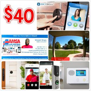 HD DOORBELL CAMERA with Touchscreen Alarm System for Sale in Stone Mountain, GA