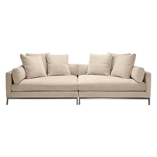 Z Gallerie Ventura Extra Deep Sofa 2 Pc For Sale In