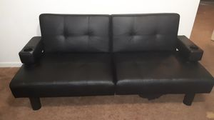 Black leather futon for Sale in Tulare, CA