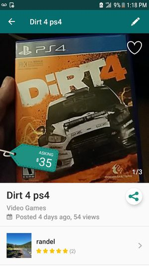 Dirt 4. $20 for Sale in Portland, OR