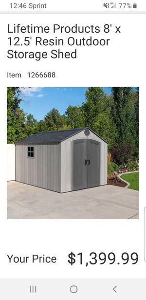 Brand New!!8x12.5 lifetime resin shed! Never built for Sale in Oakland Park, FL