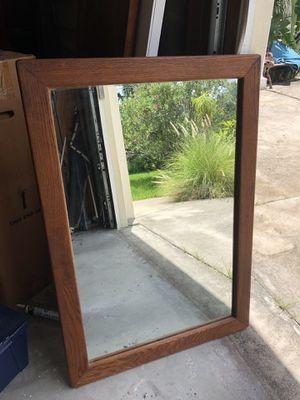 Solid Oak walk mirror for Sale in Hudson, FL