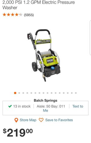 LA USE UNS VEZ 2000PSI RYOBI PRESSURE WASHER for Sale in Dallas, TX