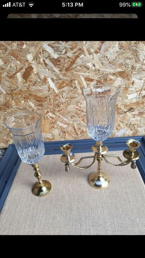Beautiful brass candle holders for Sale in Sherman, TX