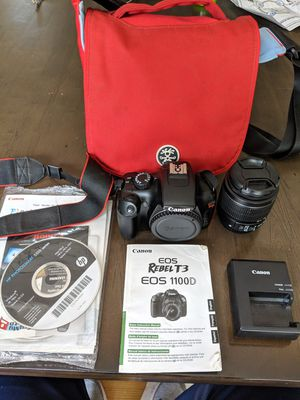 Canon EOS Rebel T3 w/ accessories for Sale in Mount Airy, MD