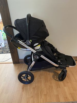 Baby Jogger Double Stroller and Car Seat for Sale in Denton, MD