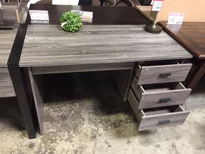 Desk with Locked Drawer , Distressed Grey for Sale in Santa Fe Springs, CA