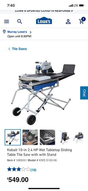 Kobalt Tile saws for Sale in MSC, UT