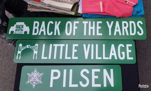 Custom authentic street sign,Chicago,Mexico,Pilsen,little village,la villita,back of the yards,car for sale,memorabilia,man cave, toys, tools, electr for Sale in Berwyn, IL