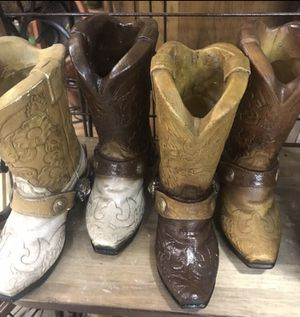 4 Western Boot Decor for Sale in Austin, TX