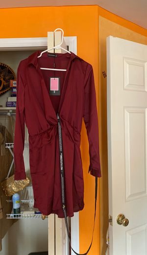Pretty Little Thing -Red Satin Dress for Sale in Bowie, MD