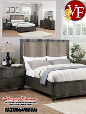 *SALE* 4 PCS MODERN QUEEN BED SET QUEEN BED + NIGHT STAND + MIRROR + DRESSER (mattress not included) $549 for Sale in Long Beach, CA