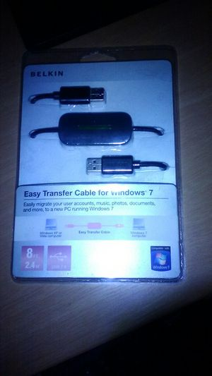 Belkin easy transfer cable for Windows 7 for Sale in Summerfield, FL