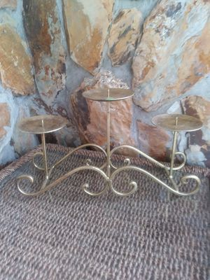Antique Gold Metal Candle Holder for Sale in Largo, FL