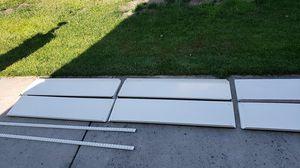 Set of 6 metal Shelves w/metal frame for Sale in Elk Grove, CA