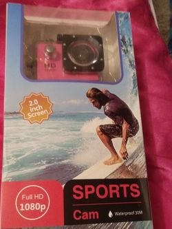 Beautiful Pink Waterproof Sports Camera for Sale in Ocean Shores,  WA