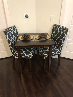 Wood Dining Table & Upholstered Chairs for Sale in Atlanta, GA