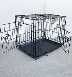 """(New In Box) $25 Folding 24"""" Dog Cage 2-Door Folding Pet Crate Kennel w/ Tray 24""""x17""""x19"""" for Sale in Whittier,  CA"""