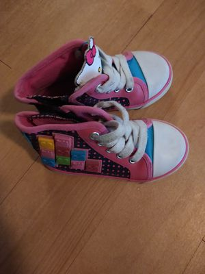 Sanrio Hello Kitty Toddler Size 7 Hightops Sneakers with Blocks and Side Zippers for Sale in Delray Beach, FL