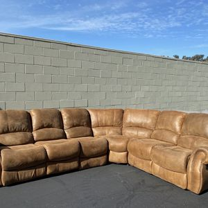 CLEARANCE | COSTCO Fabric Reclining Sectional, Brown | LIKE NEW | 🔥$50 DOWN for Sale in San Diego, CA