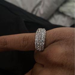 White Sapphire Ring Size 6 / Diamond Earrings for Sale in Leesburg,  VA