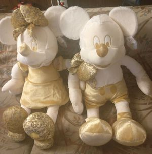 "Mickey Mouse & Minnie Gold Christmas 18"" Plush Disney Store Exclusive for Sale in Seattle, WA"