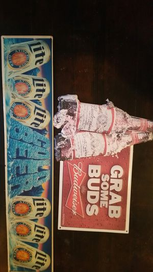 Vintage metal beer signs for Sale in Sioux Falls, SD