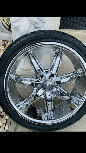 Mercedes-Benz custom chrome 18 rims for Sale in York, PA