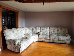 Sectional style couch & recliner for Sale in Buffalo, NY